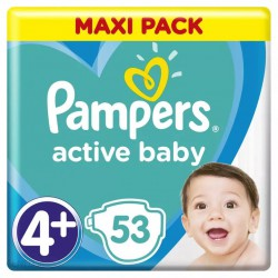 PAMPERS ACTIVE BABY 4+ 53 SZT