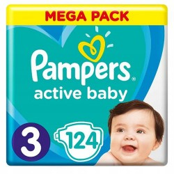 PAMPERS ACTIVE BABY 3 124...