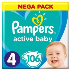 PAMPERS ACTIVE BABY 4 106...